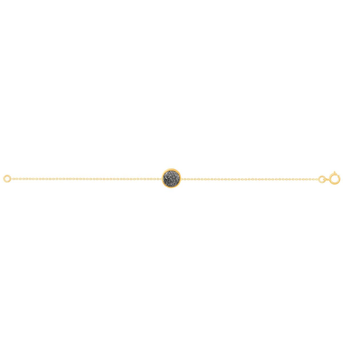دستبند طلا کوارتز نقره ای کوچک
