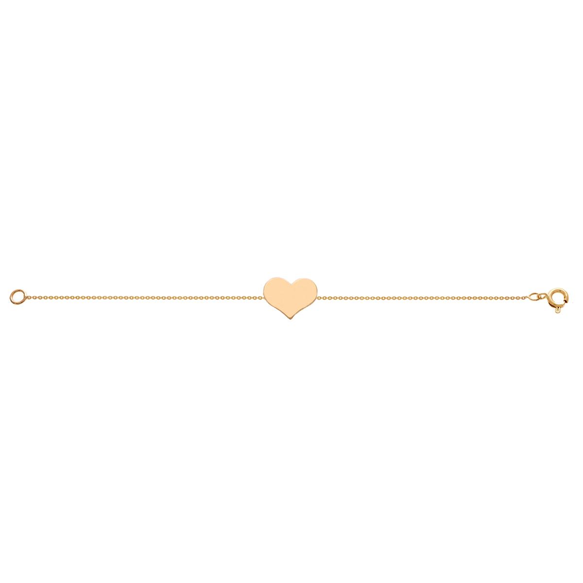دستبند طلا قلب بزرگ