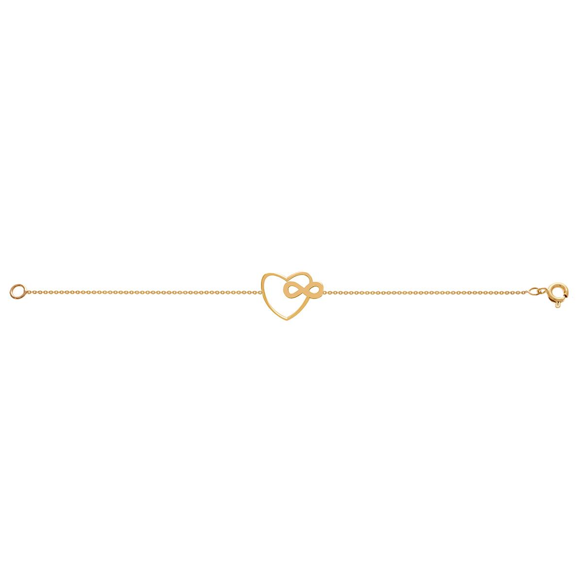 دستبند طلا قلب بینهایت