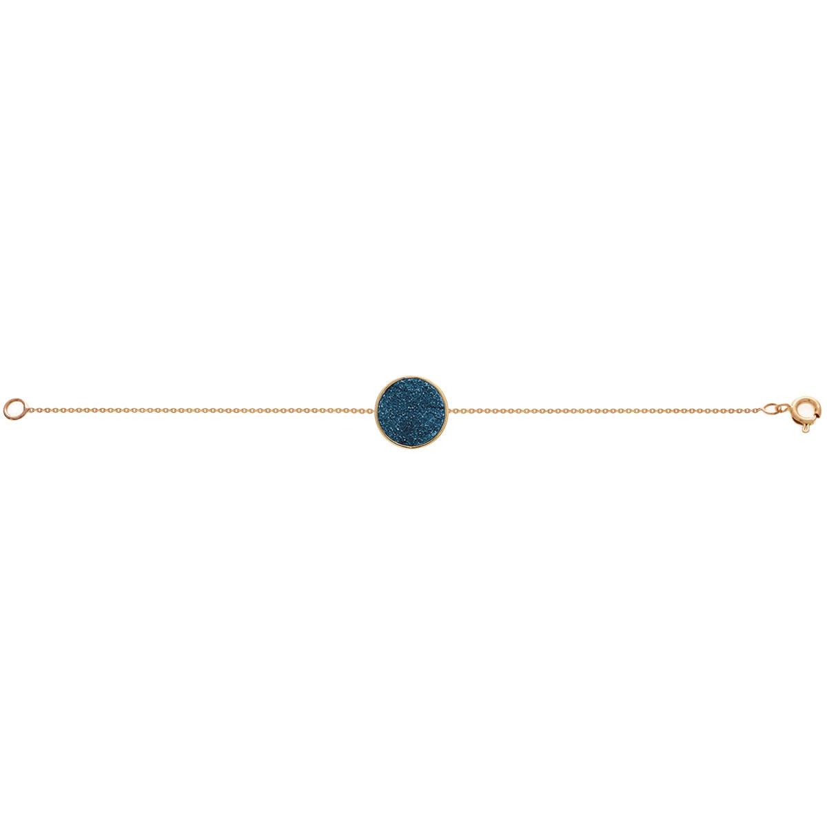 دستبند طلا کوارتز آبی کوچک