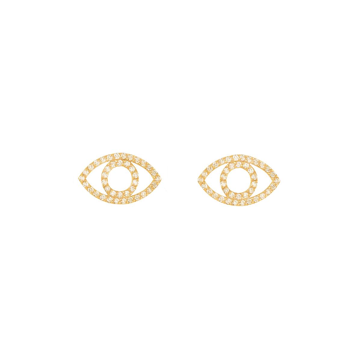 گوشواره طلا چشم