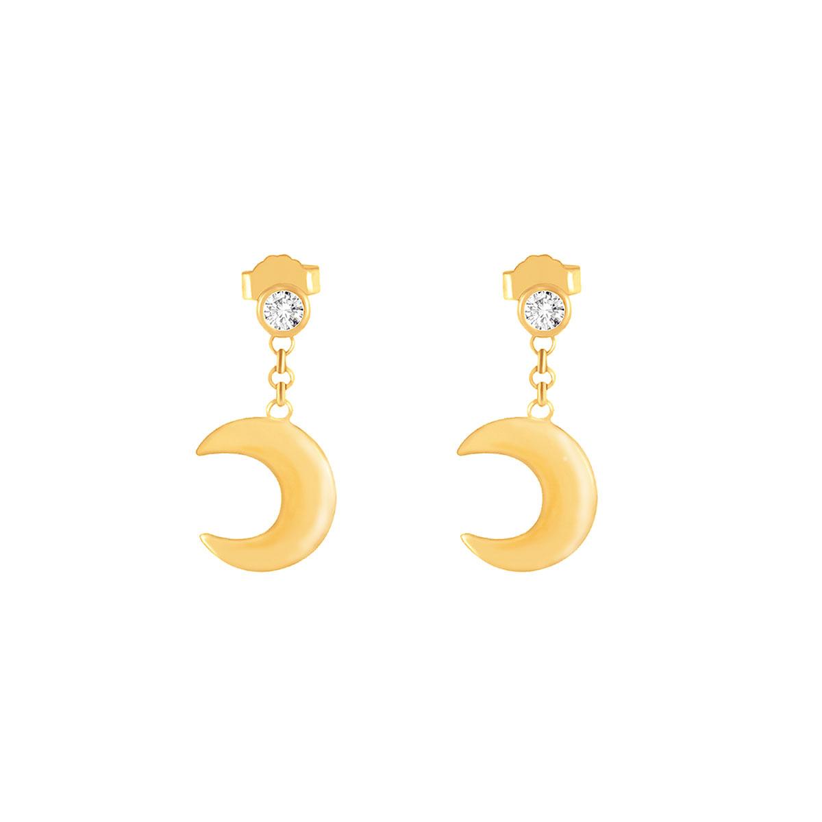 گوشواره طلا ماه