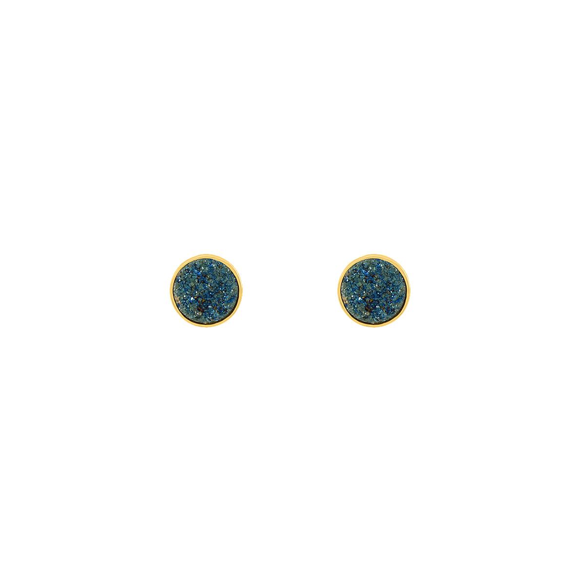 گوشواره کوارتز آبی کوچک