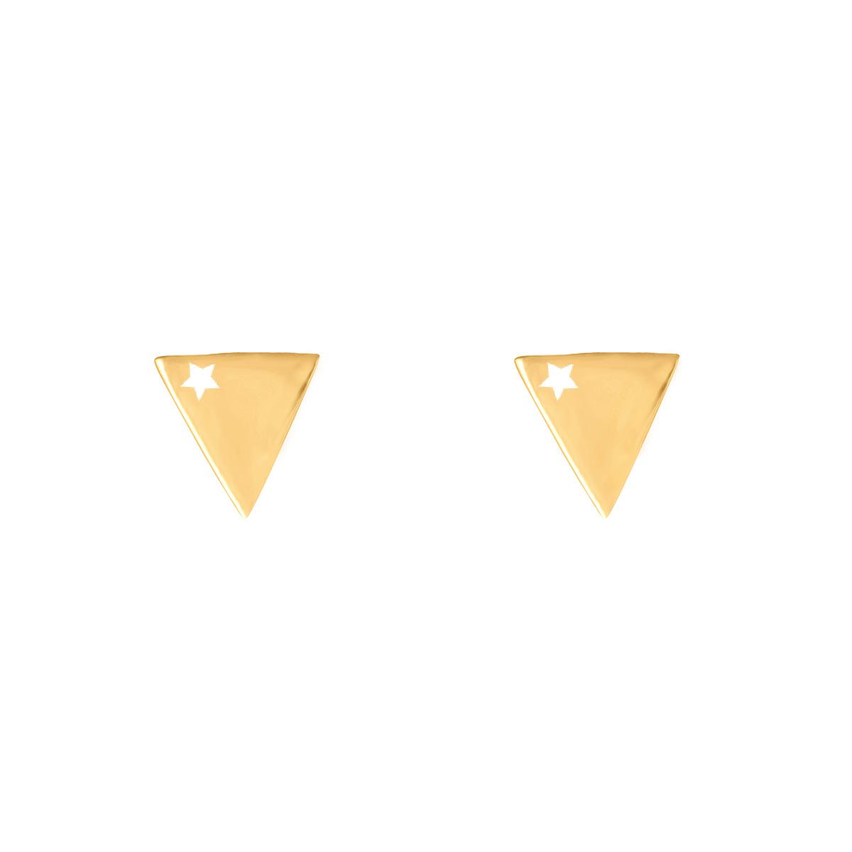 گوشواره طلا مثلث و ستاره