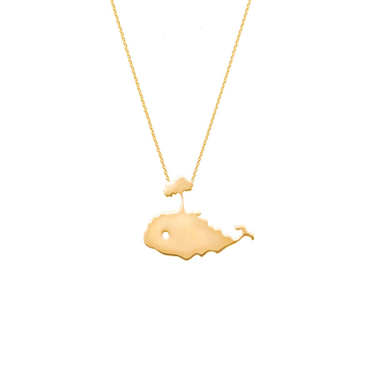 پرسته گردنبند طلا نهنگ