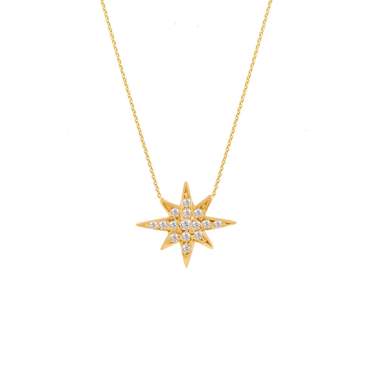 پرسته گردنبند طلا تک ستاره