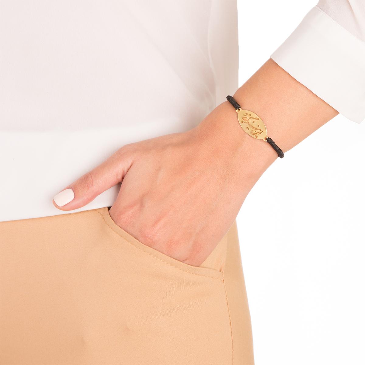 دستبند طلا بافت این نیز بگذرد
