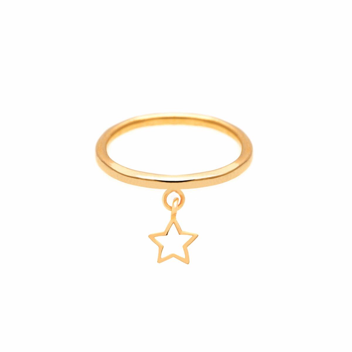 پرسته انگشتر طلا ستاره تو خالی