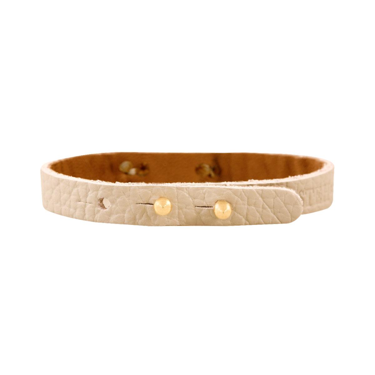 دستبند طلا چرمی طوسی بال فرشته