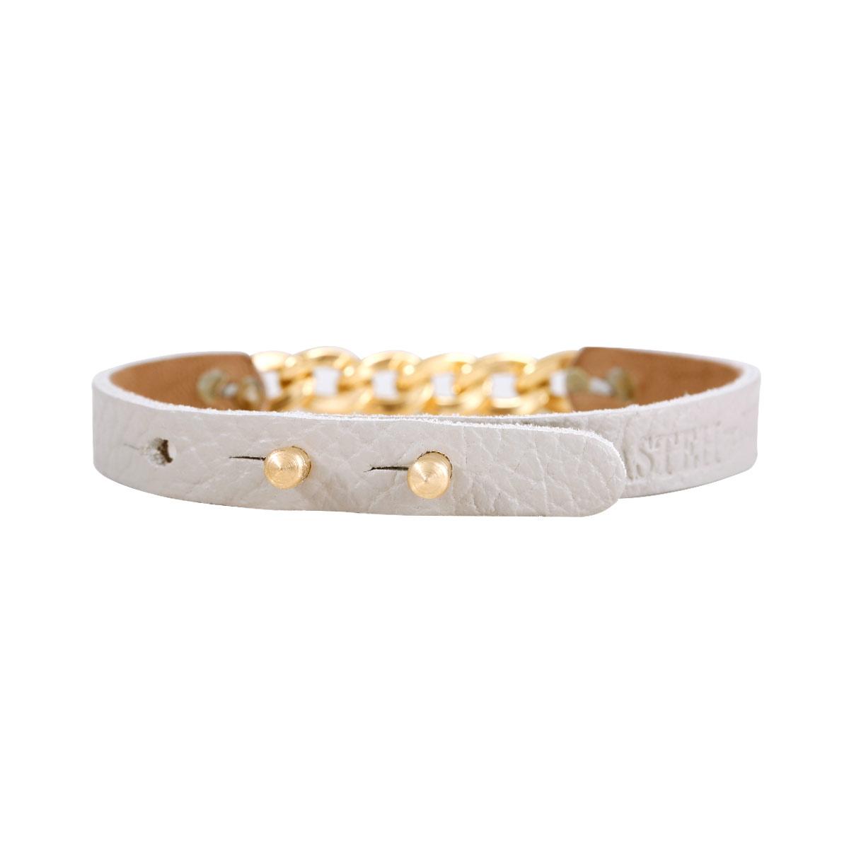 دستبند طلا چرمی طوسی کارتیه
