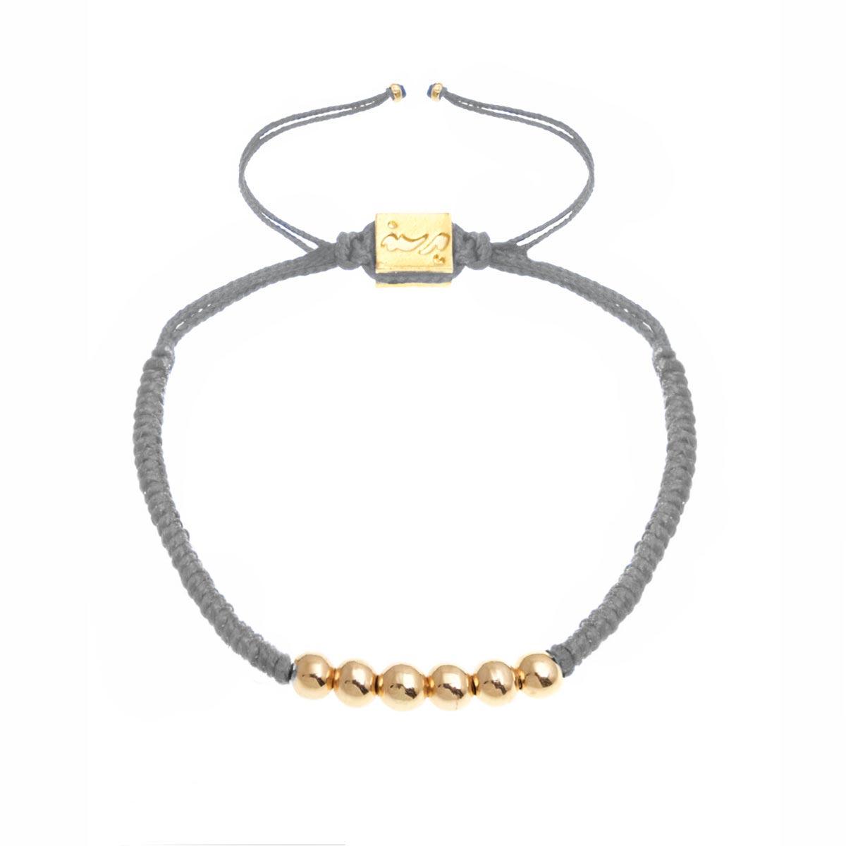 دستبند طلا بافت شش گوی
