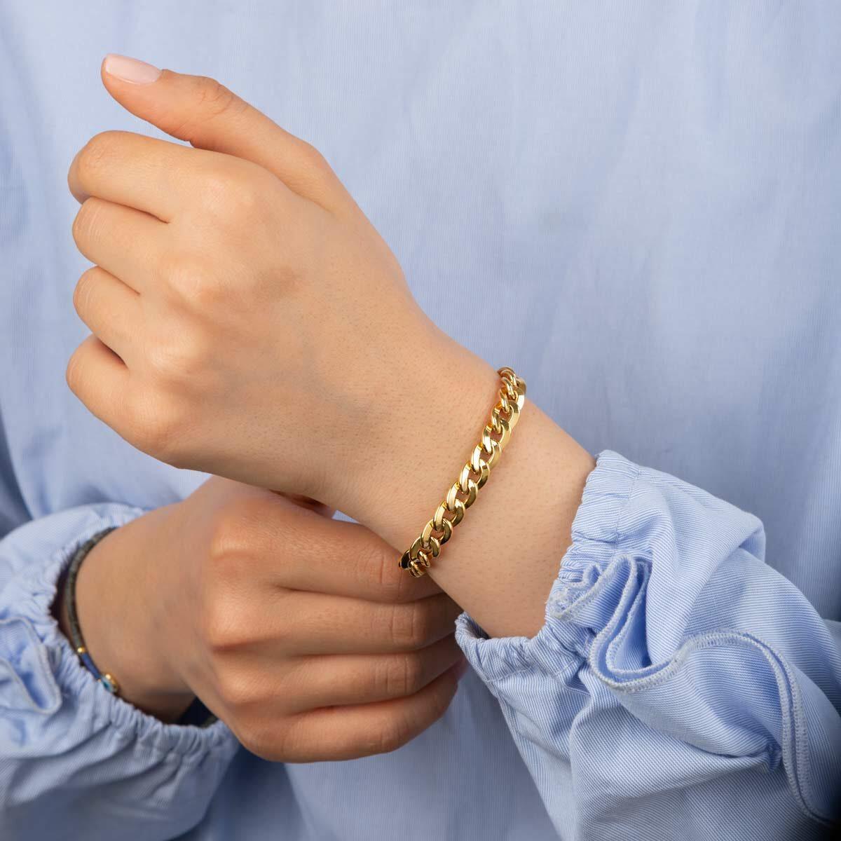 زنجیر دستبند طلا کارتیه سایز 4