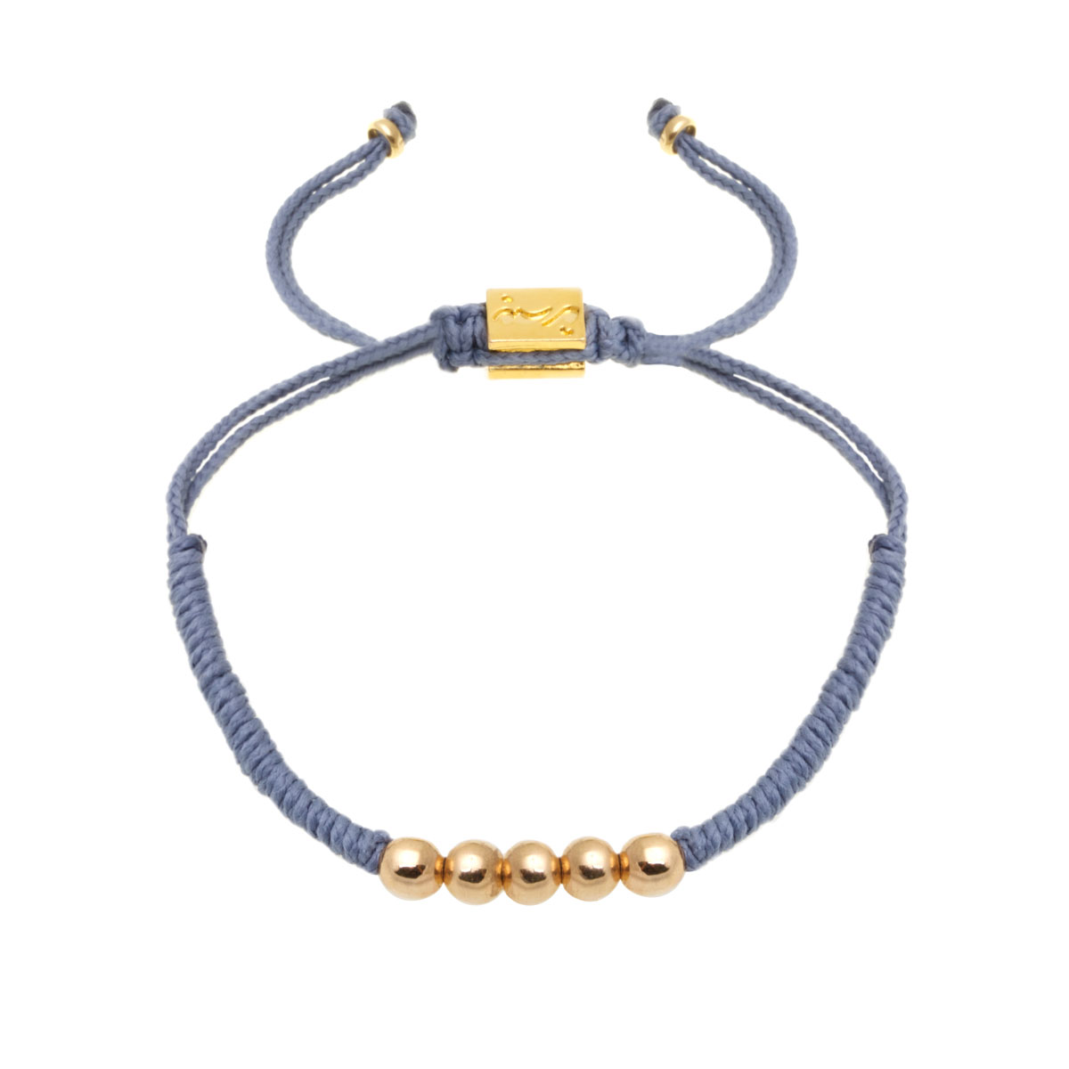 دستبند طلا بافت پنج گوی