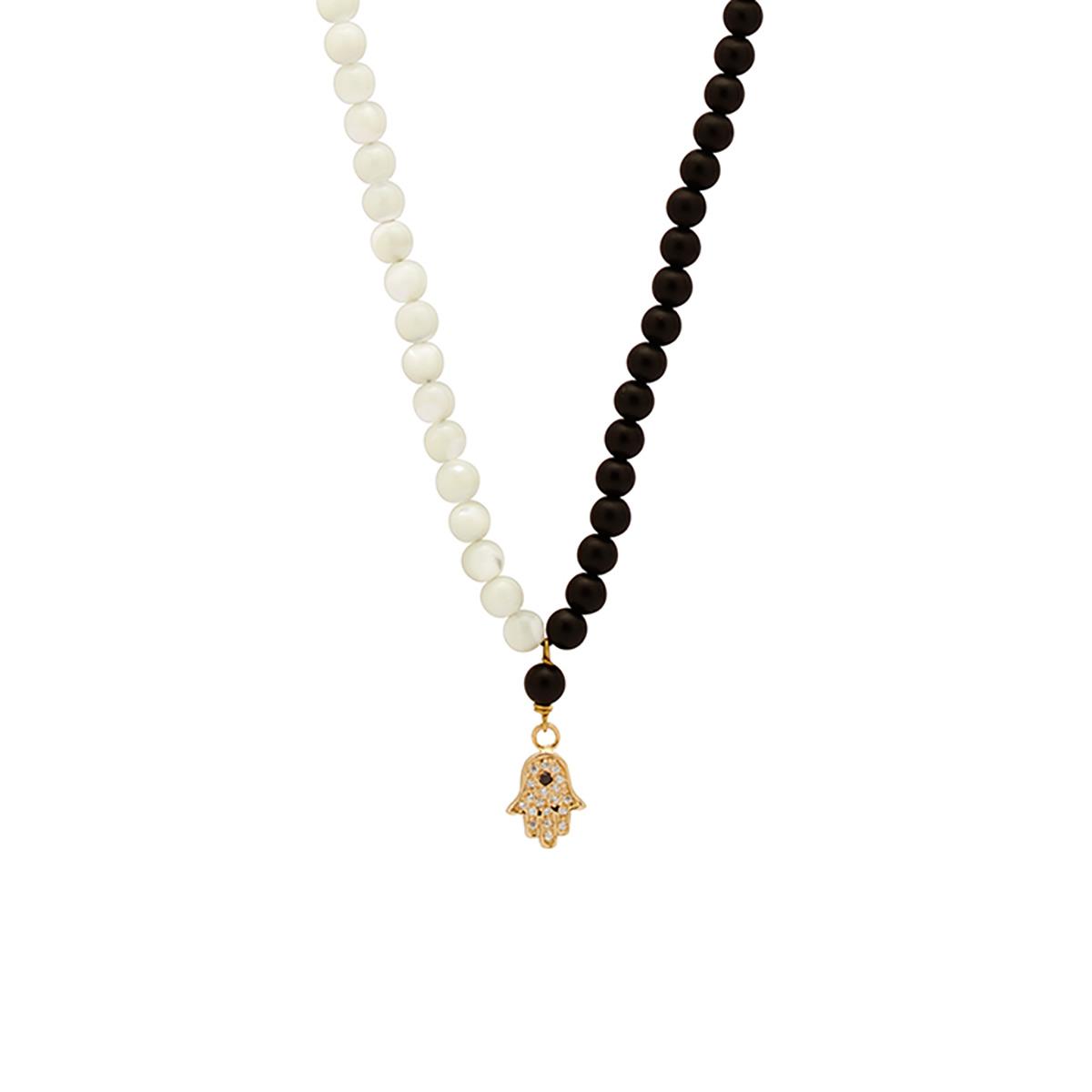 گردنبند طلا دست طرحدار