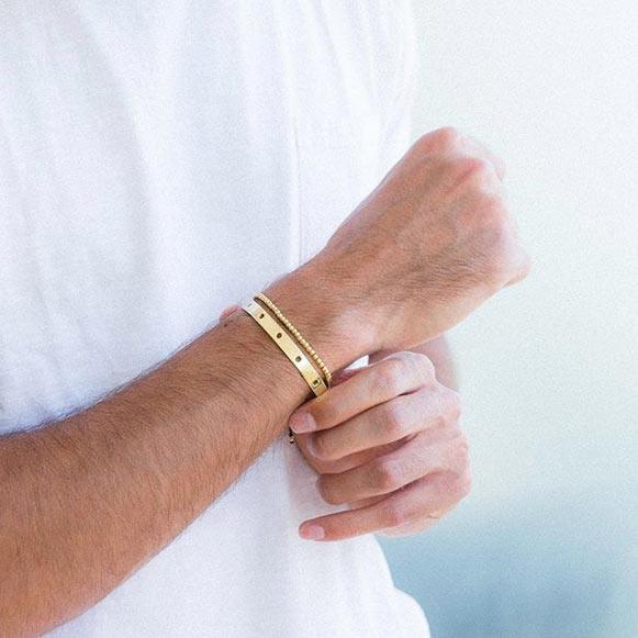 دستبند طلا تمام گوی طلا