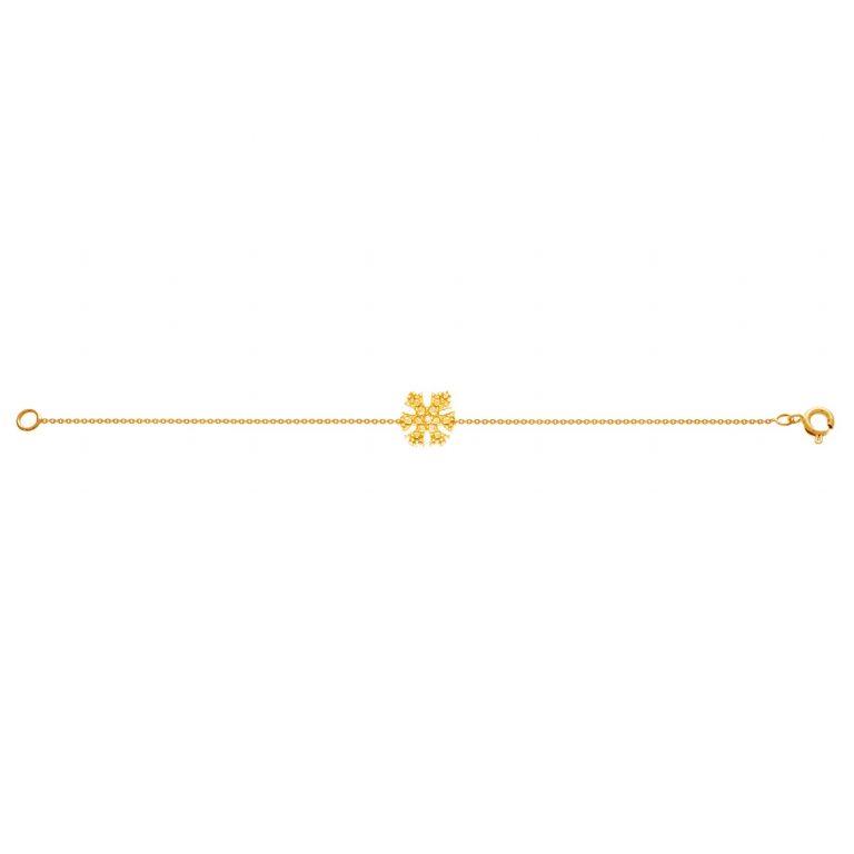 دستبند طلا بافت دانه برف