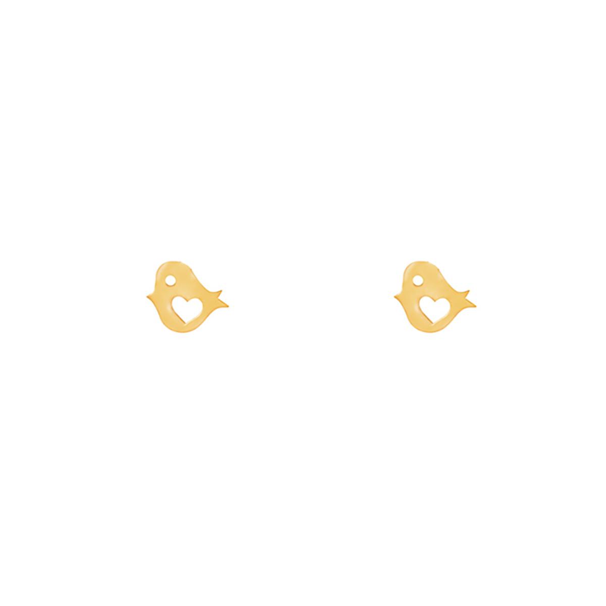 گوشواره طلا گنجشک و قلب