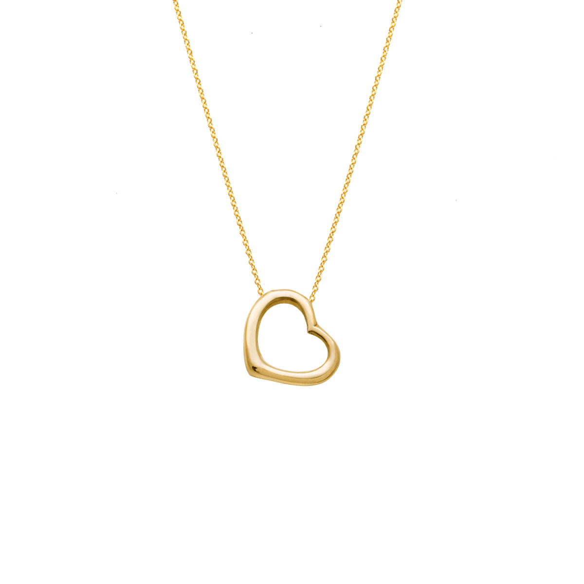 پرسته گردنبند طلا قلب بزرگ
