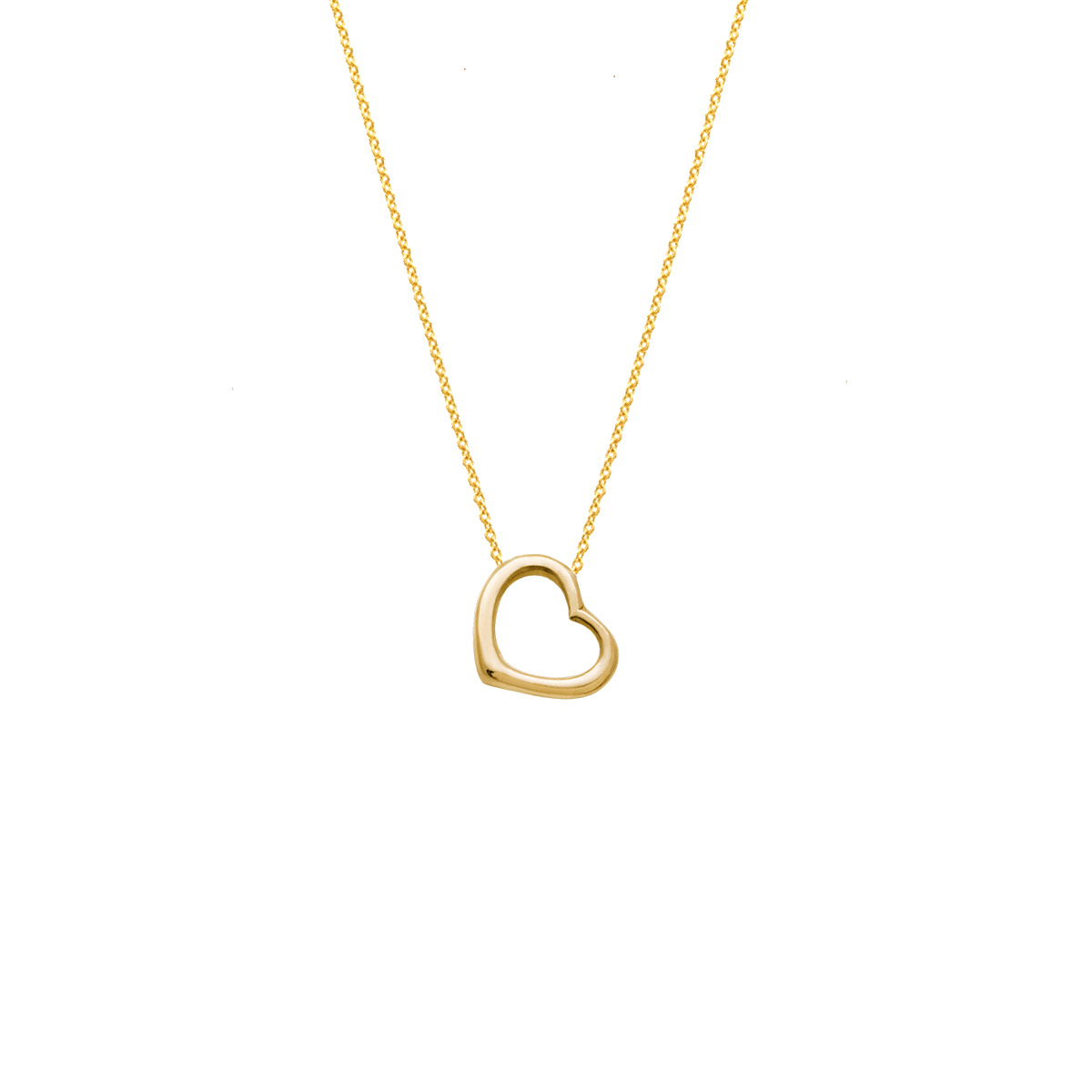 پرسته گردنبند طلا قلب کوچک