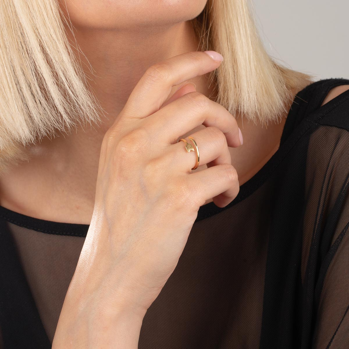 انگشتر بند انگشتی طلا تیر