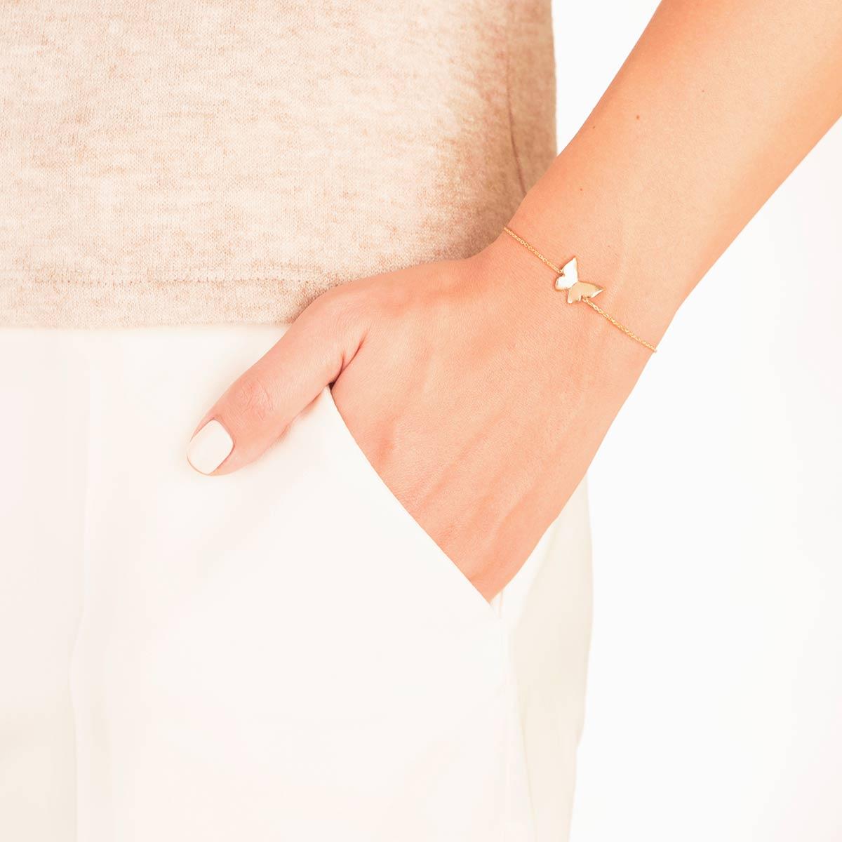 دستبند طلا پروانه بزرگ