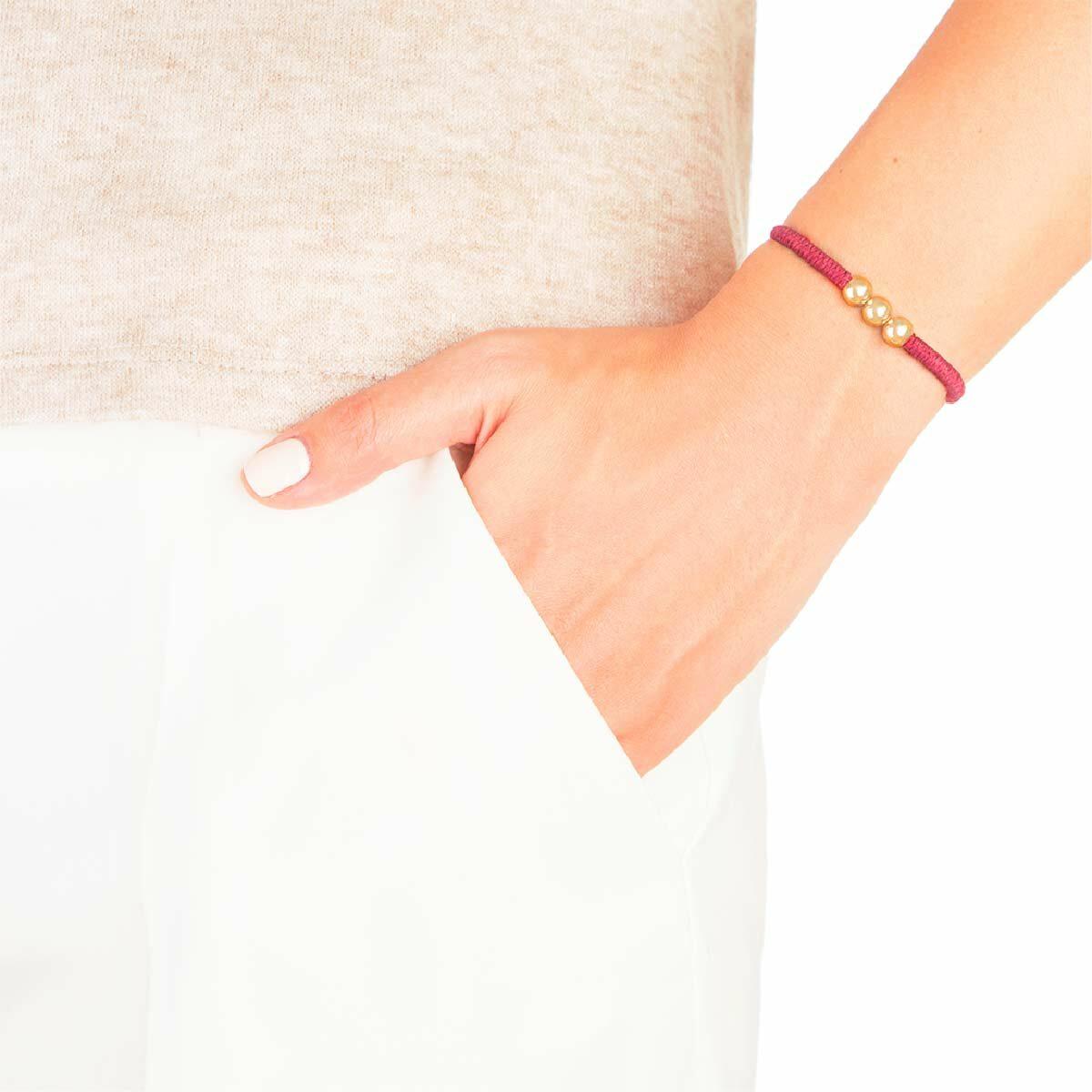 دستبند طلا بافت چهار گوی