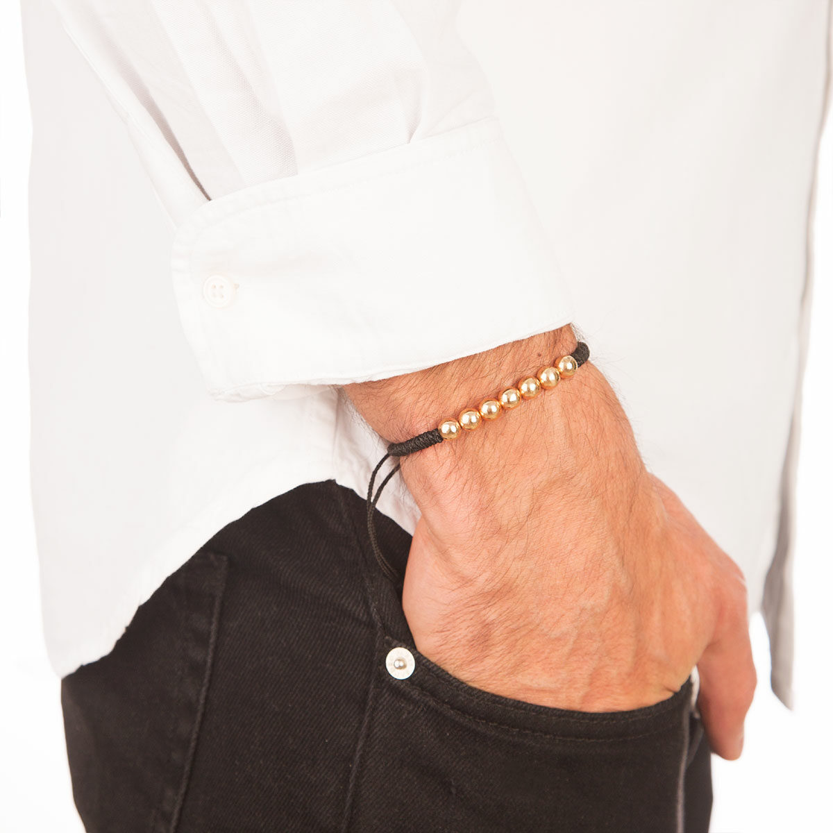 دستبند طلا بافت هفت گوی