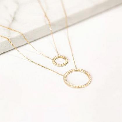 گردنبند طلا دایره بزرگ