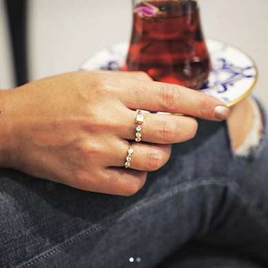 انگشتر طلای لونا