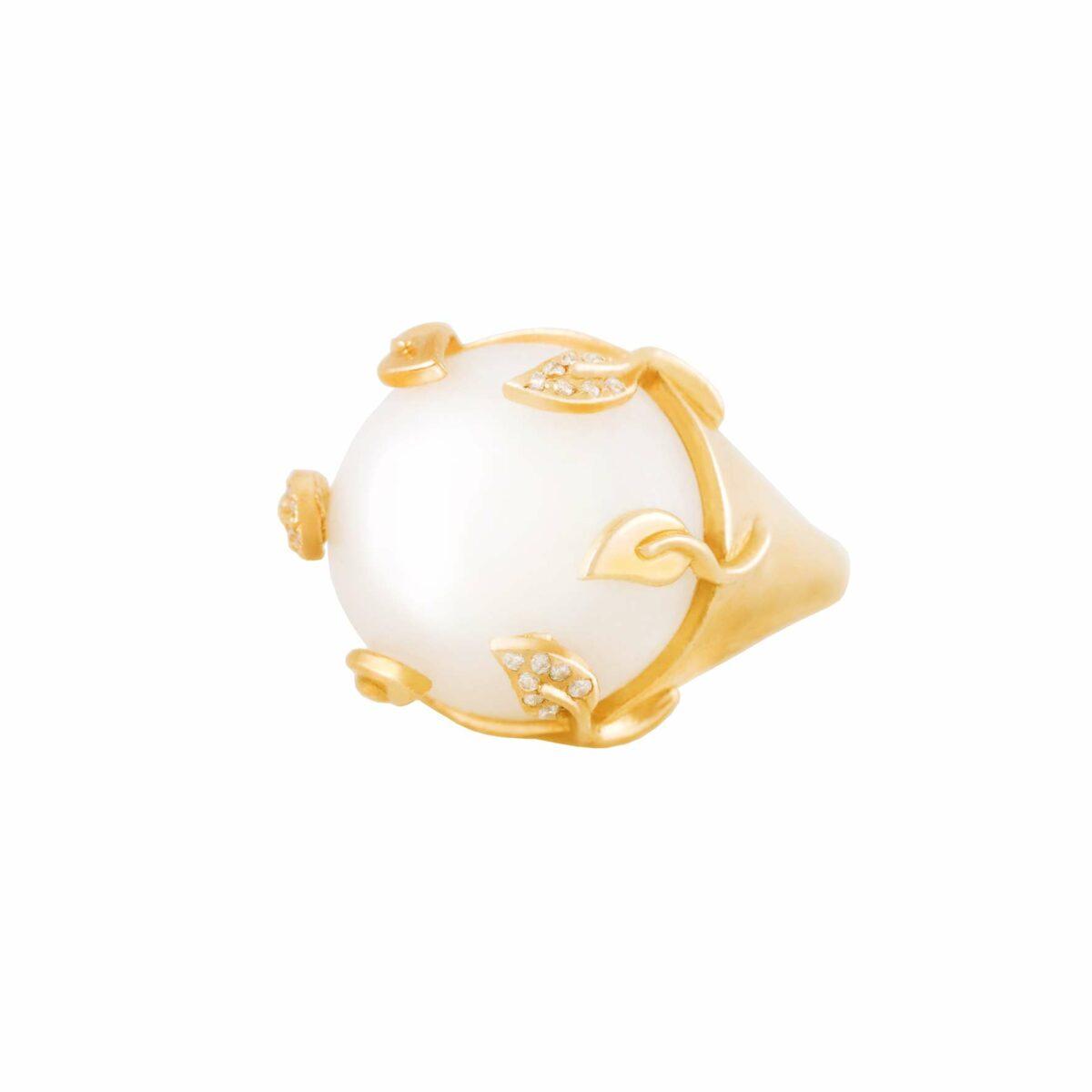 پرسته انگشتر طلا (سنگ ماه ) Moonstone