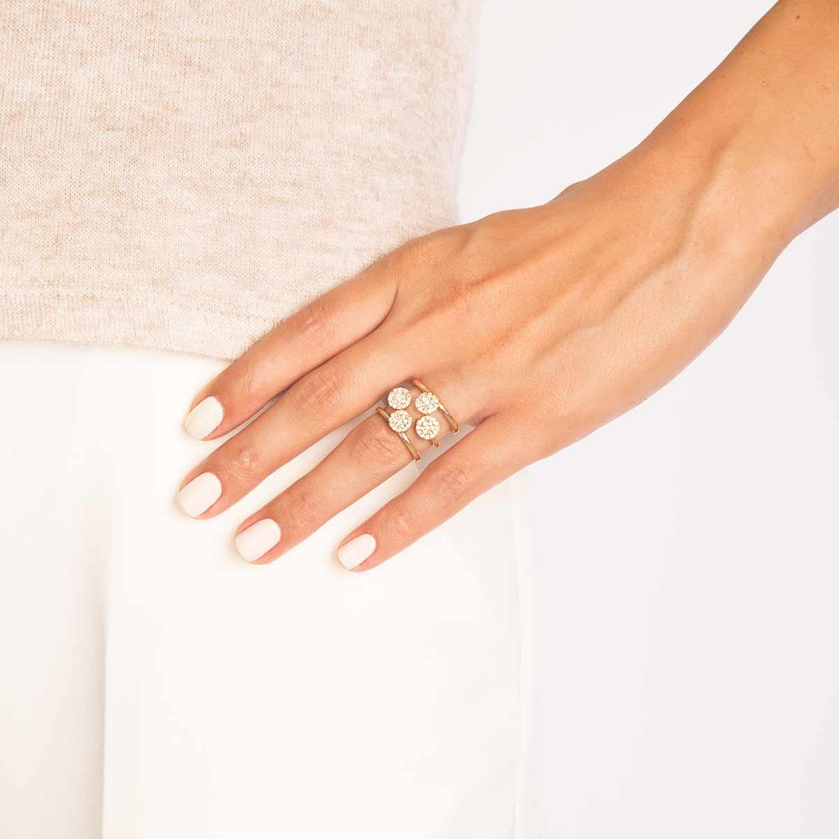 انگشتر طلا چهار دایره پرسته