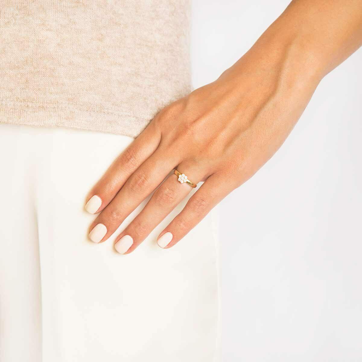 انگشتر طلا Flower پرسته