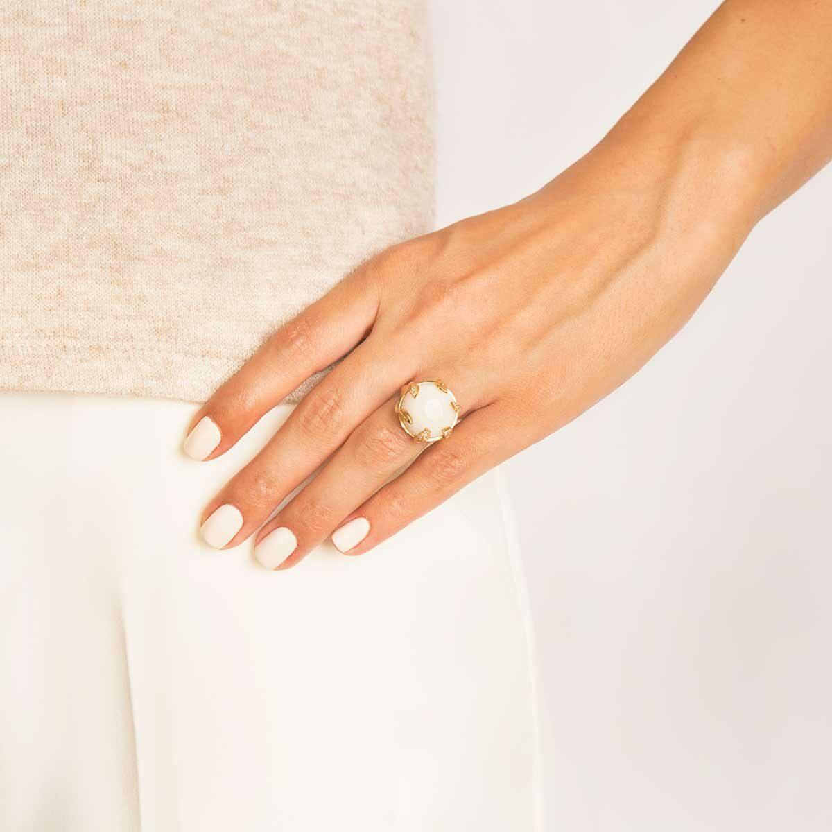 انگشتر طلا moon stone پرسته