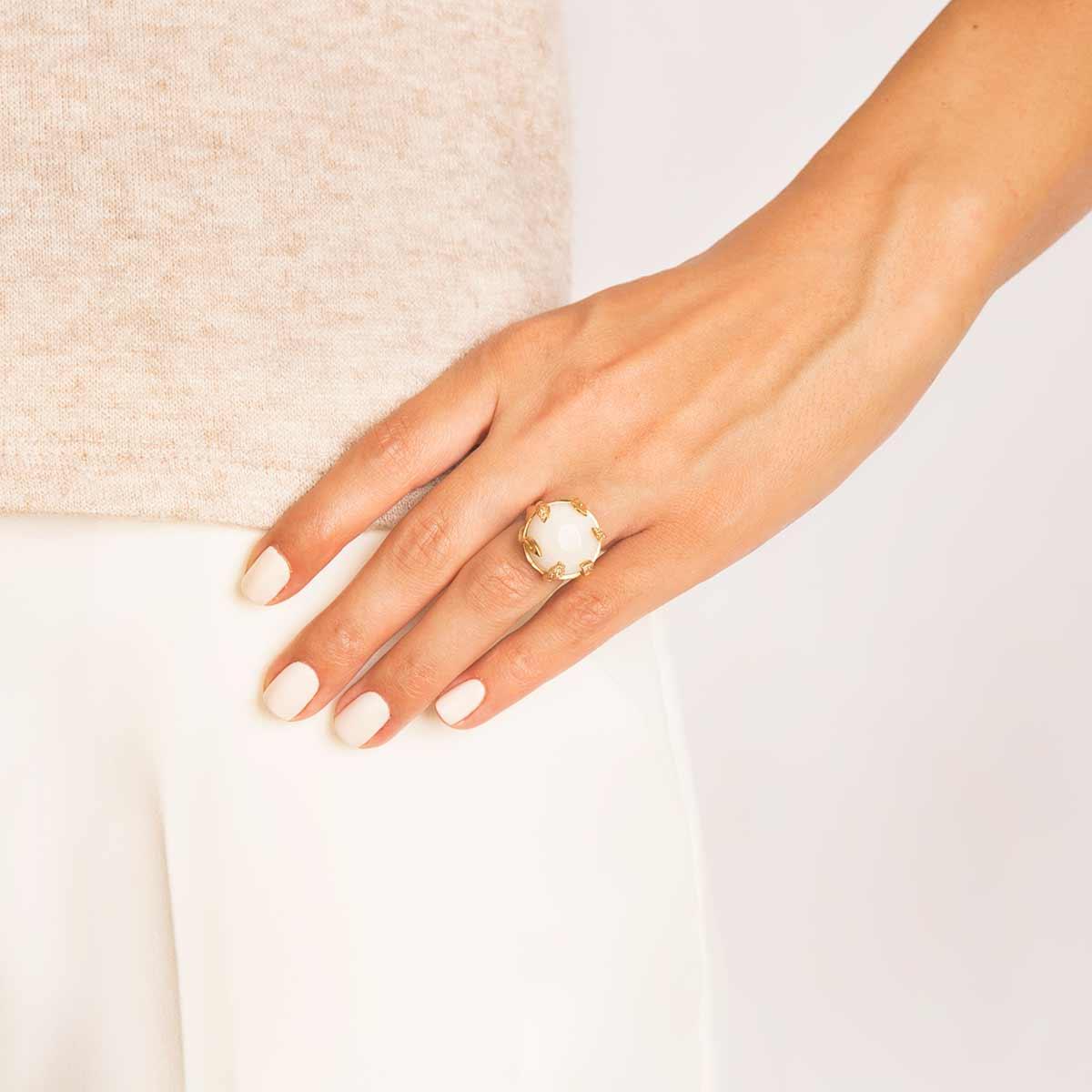 انگشتر طلا سنگ ماه