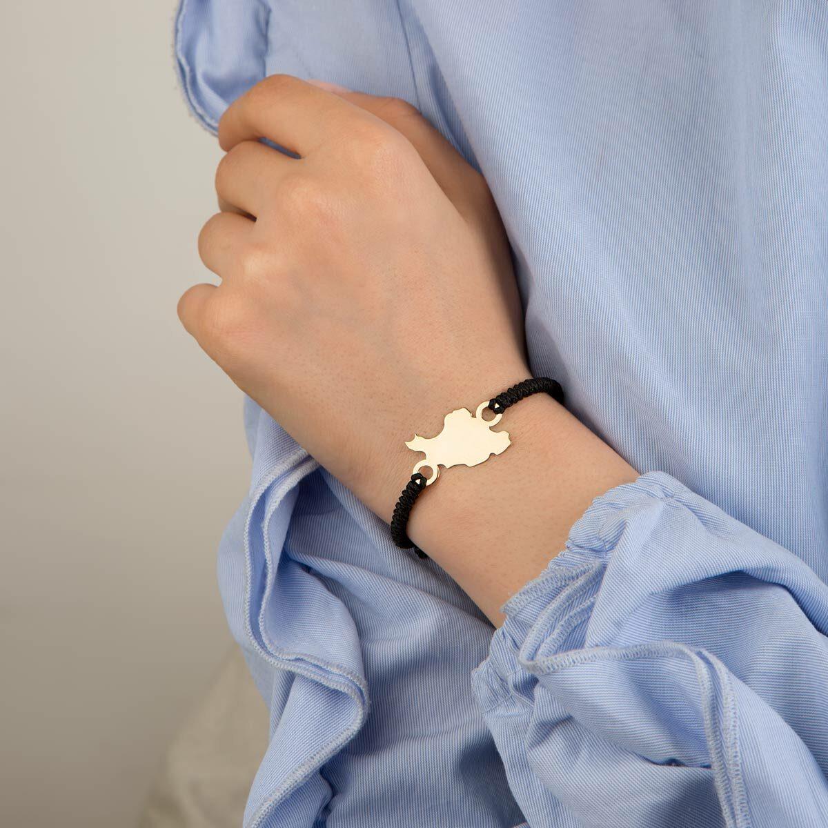 دستبند طلا بافت نقشه ایران