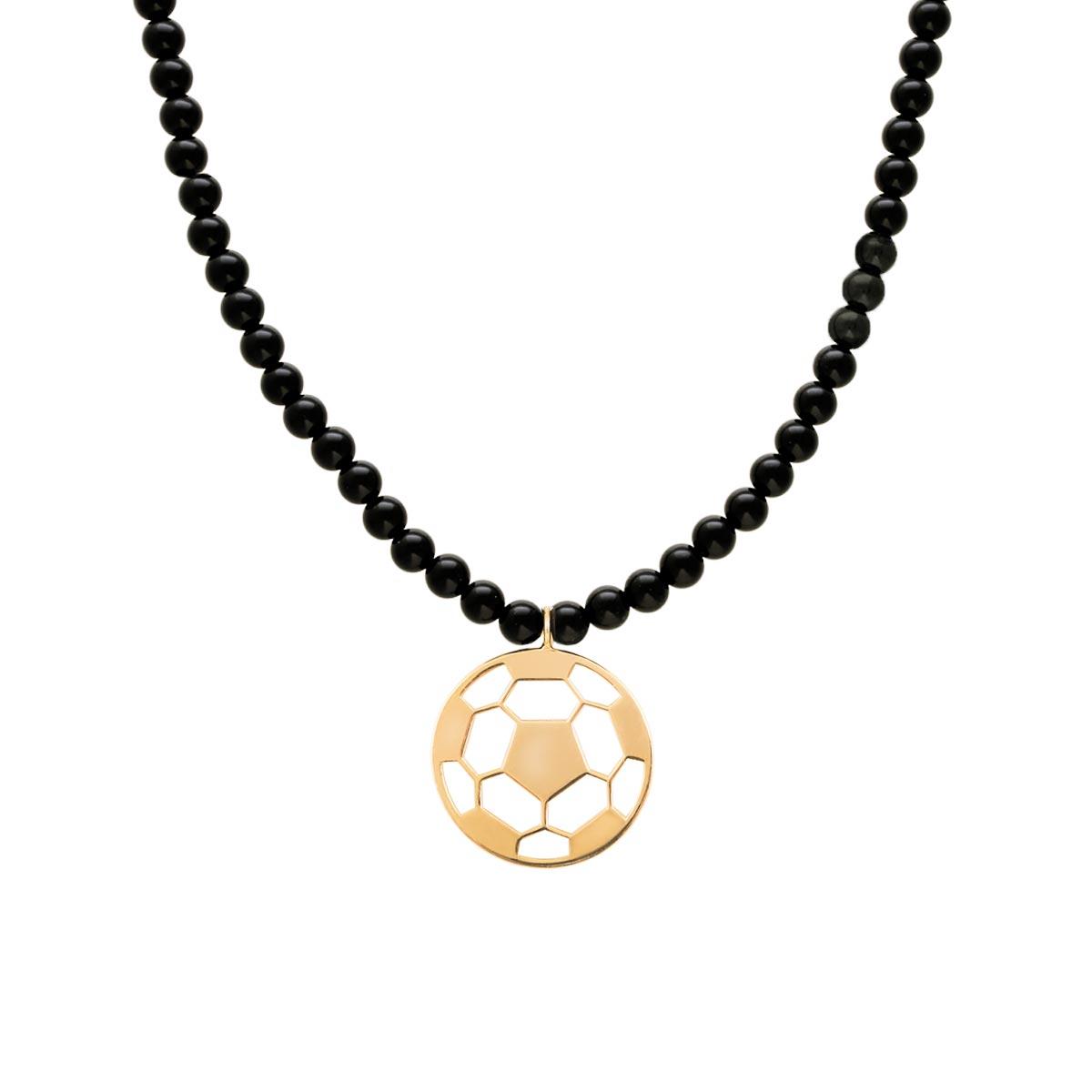 پرسته گردنبند طلا توپ فوتبال