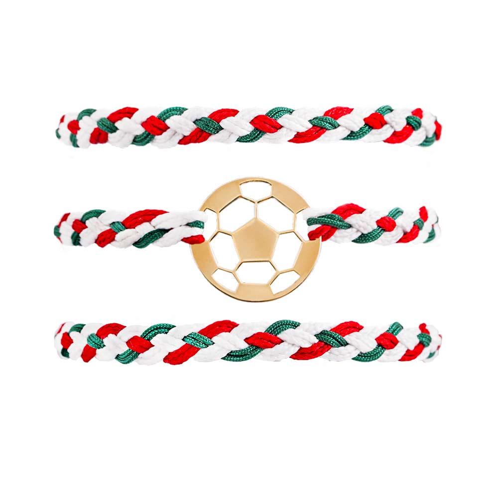 دستبند طلا بافت توپ فوتبال