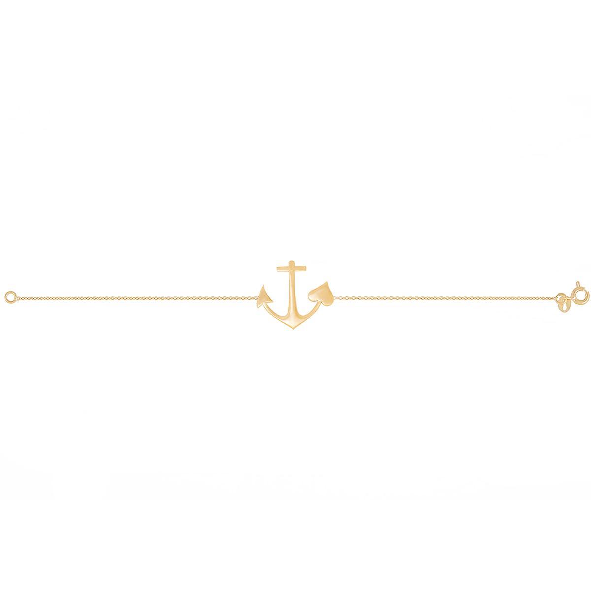 دستبند طلا لنگر و قلب