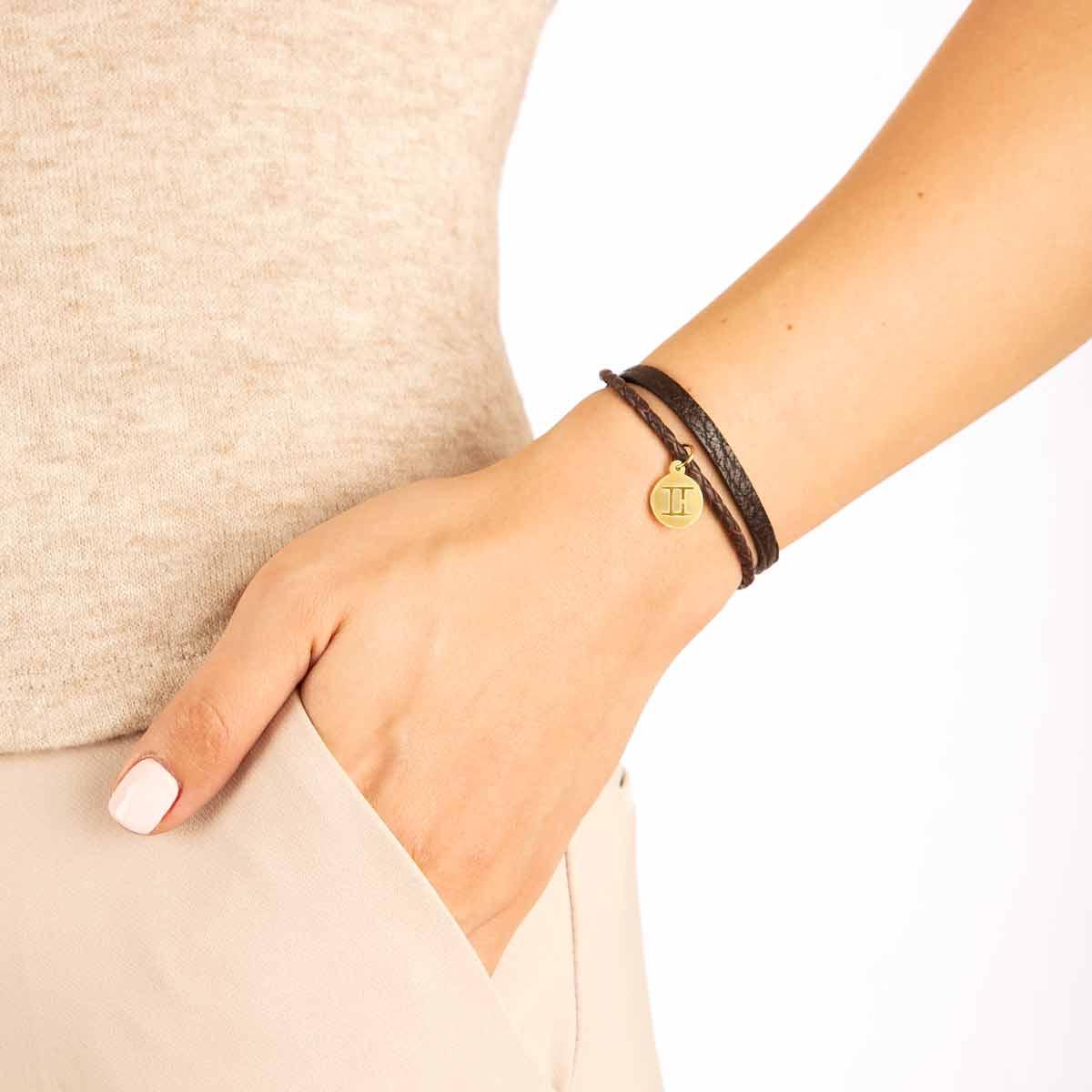 دستبند طلا نماد ماه خرداد پرسته
