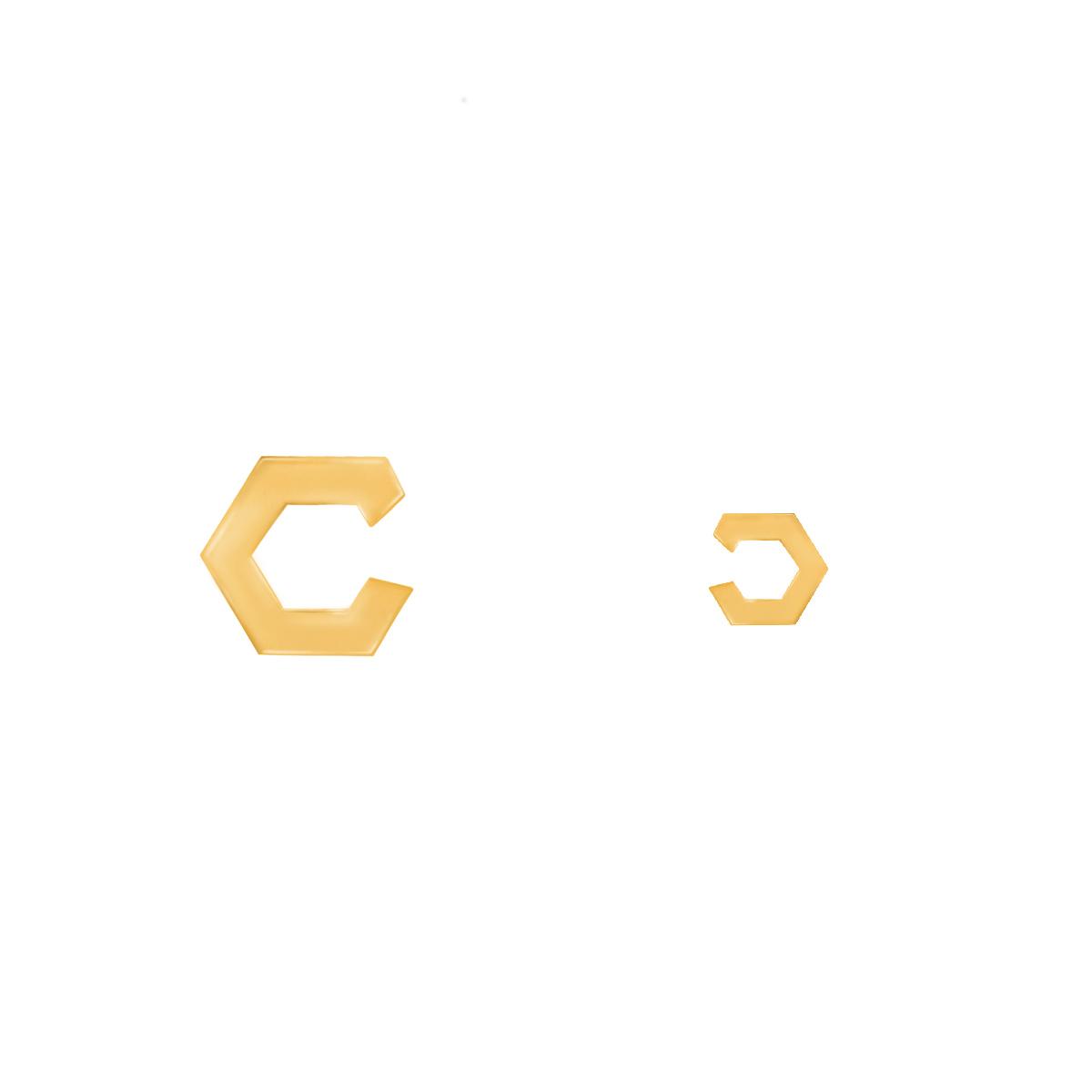 گوشواره طلا شش ضلعی