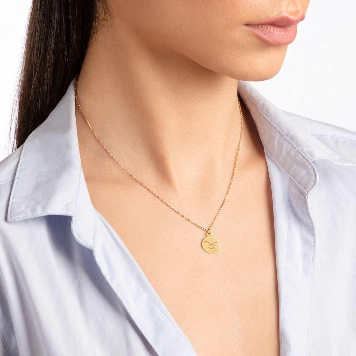 گردنبند طلا نماد ماه اردیبهشت