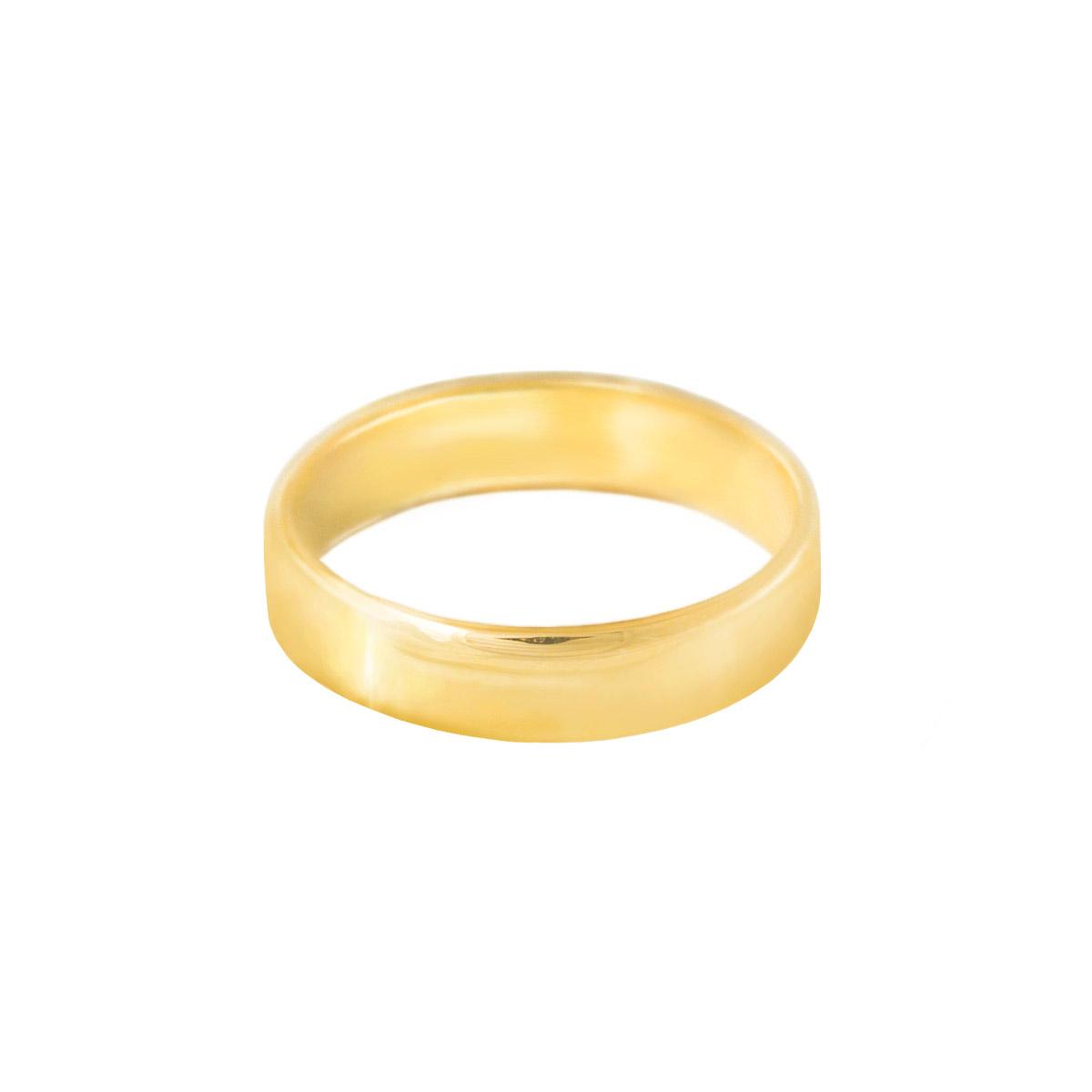 پرسته انگشتر طلا دامله پهن