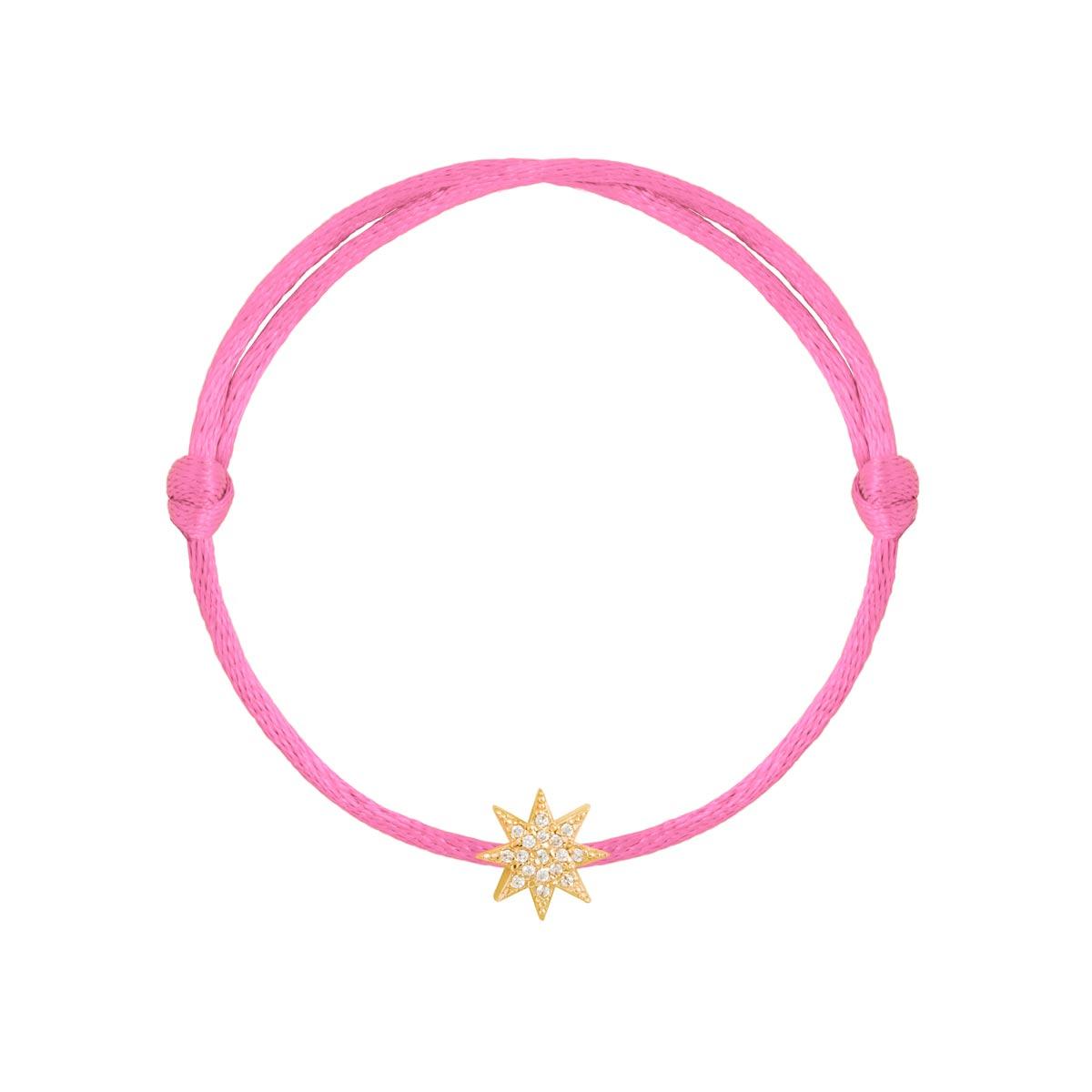 دستبند طلا ستاره نگین دار