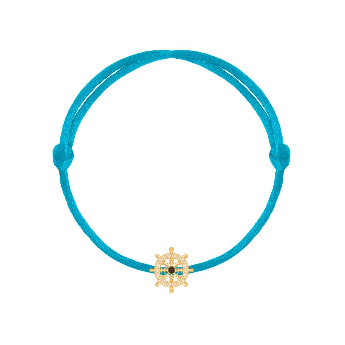 دستبند طلا سکان نگین دار
