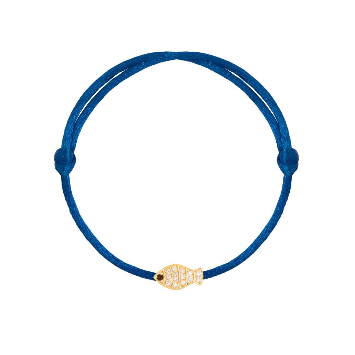 دستبند طلا ماهی نگین دار