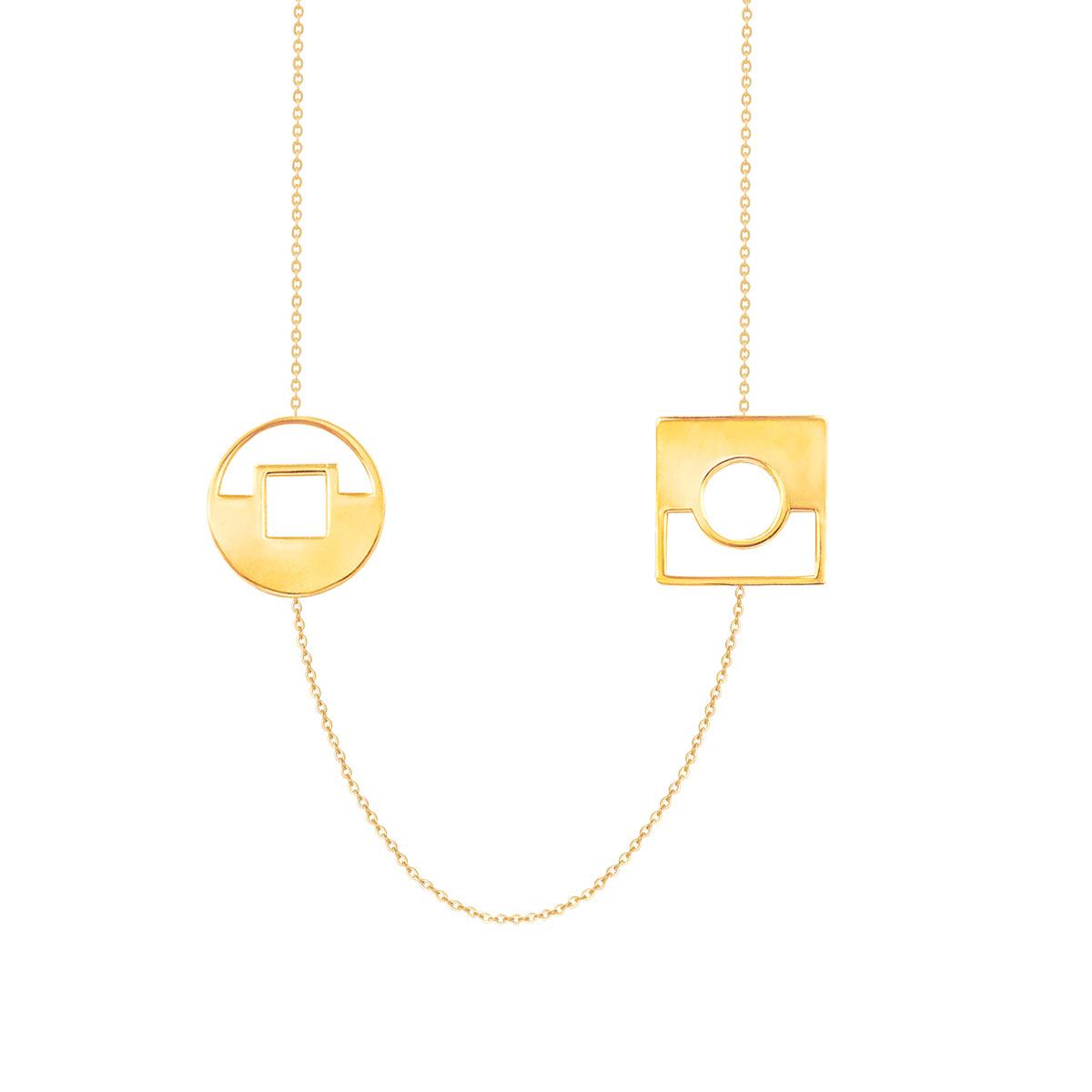 پرسته گردنبند طلا Contrast