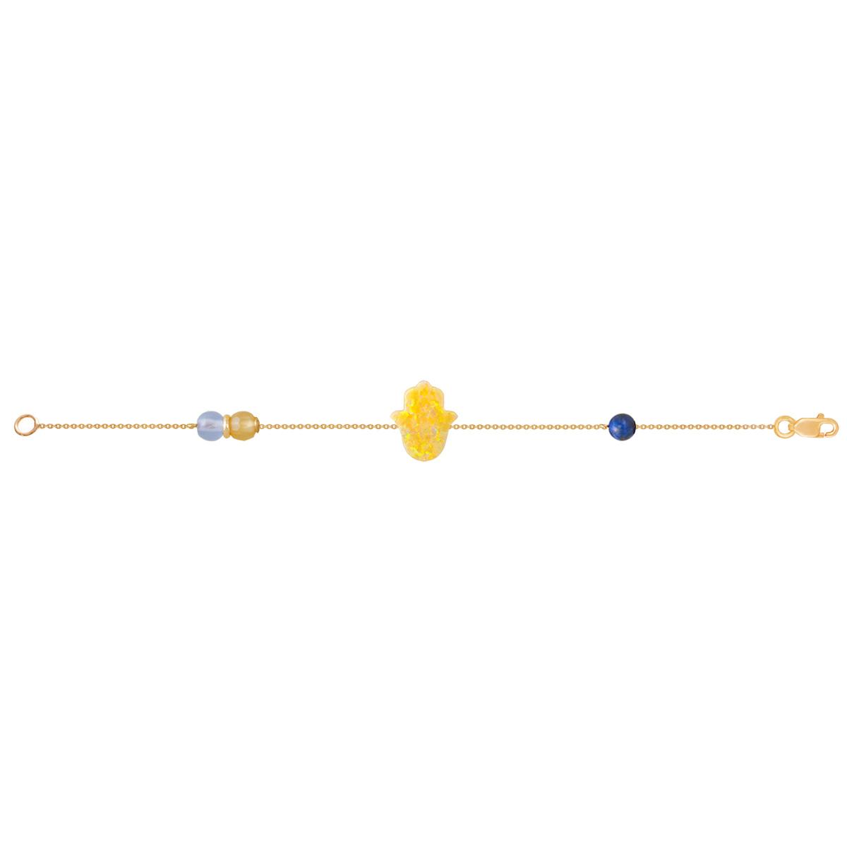 پابند طلا دست زرد Hamsa