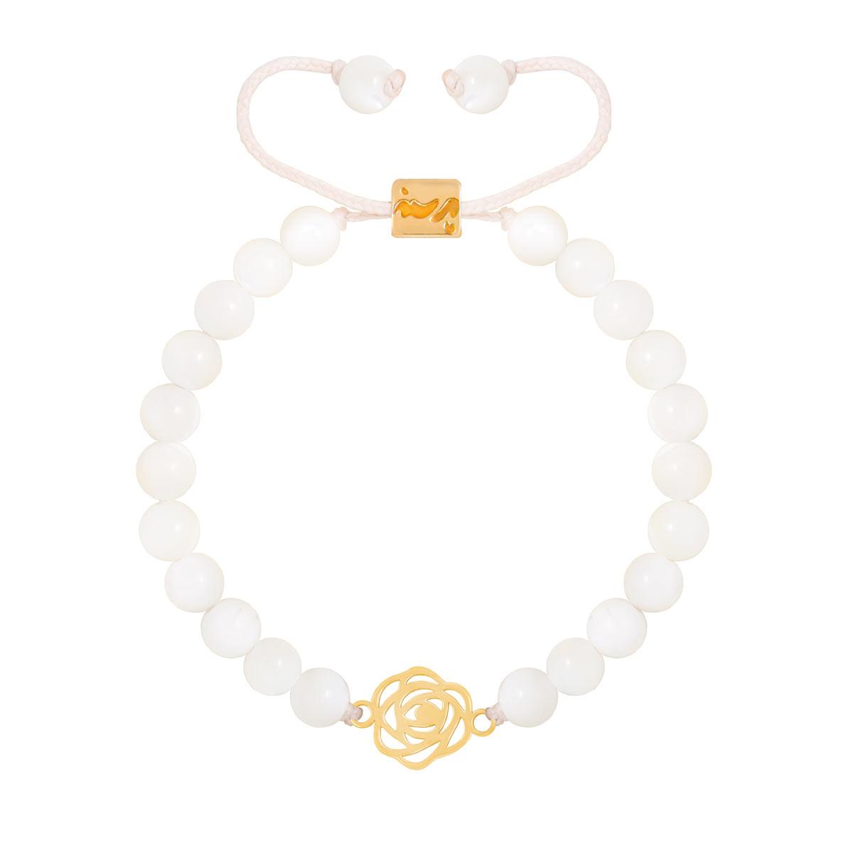 دستبند طلا گل رز کوچک