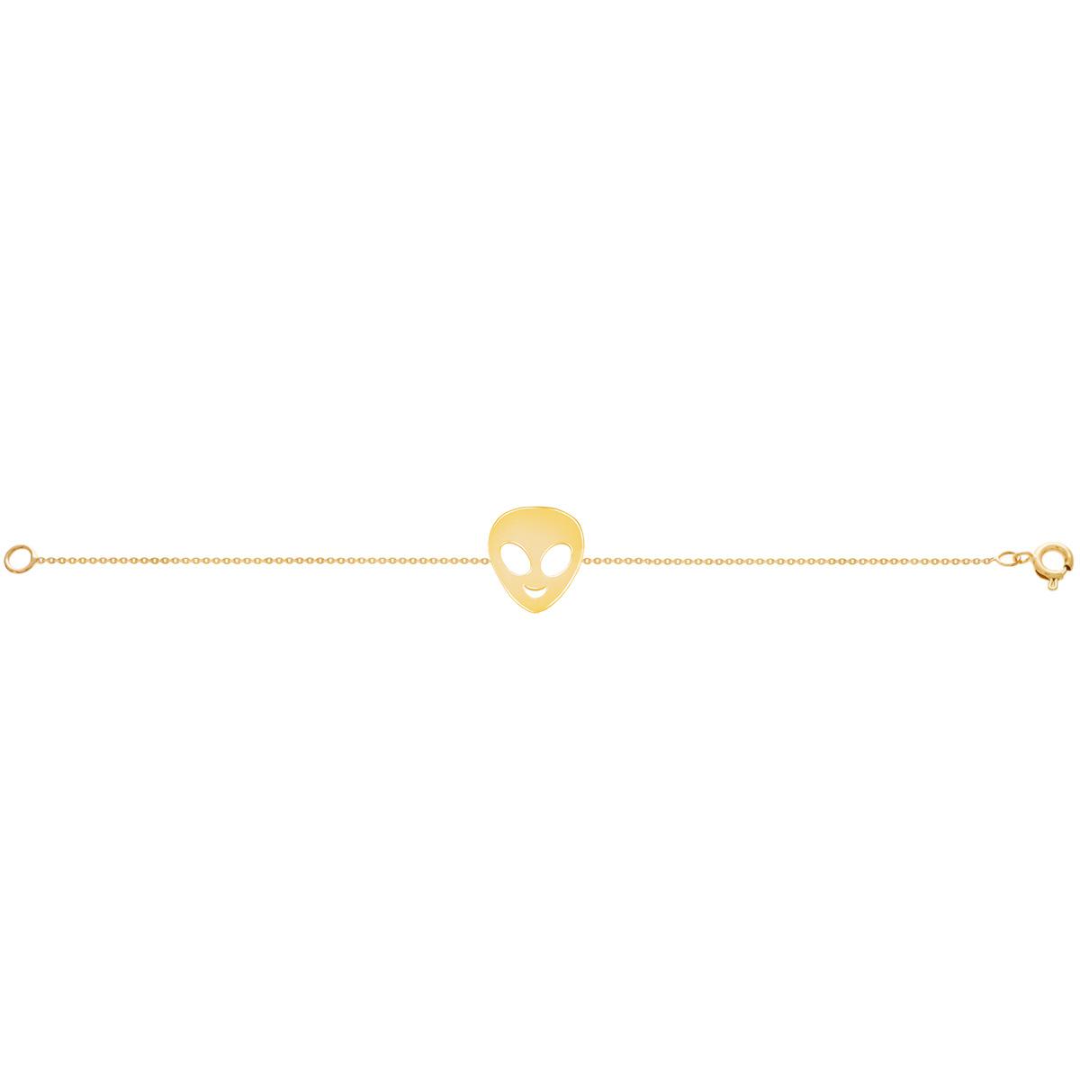 دستبند طلا بافت آدم فضایی