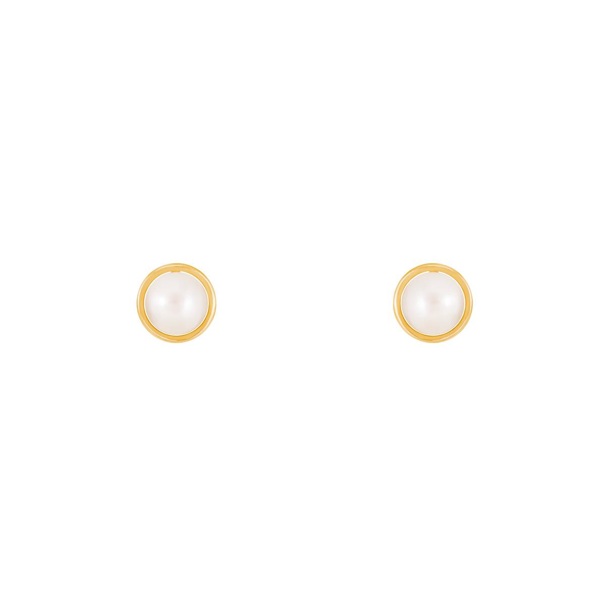گوشواره طلا دایره و مروارید